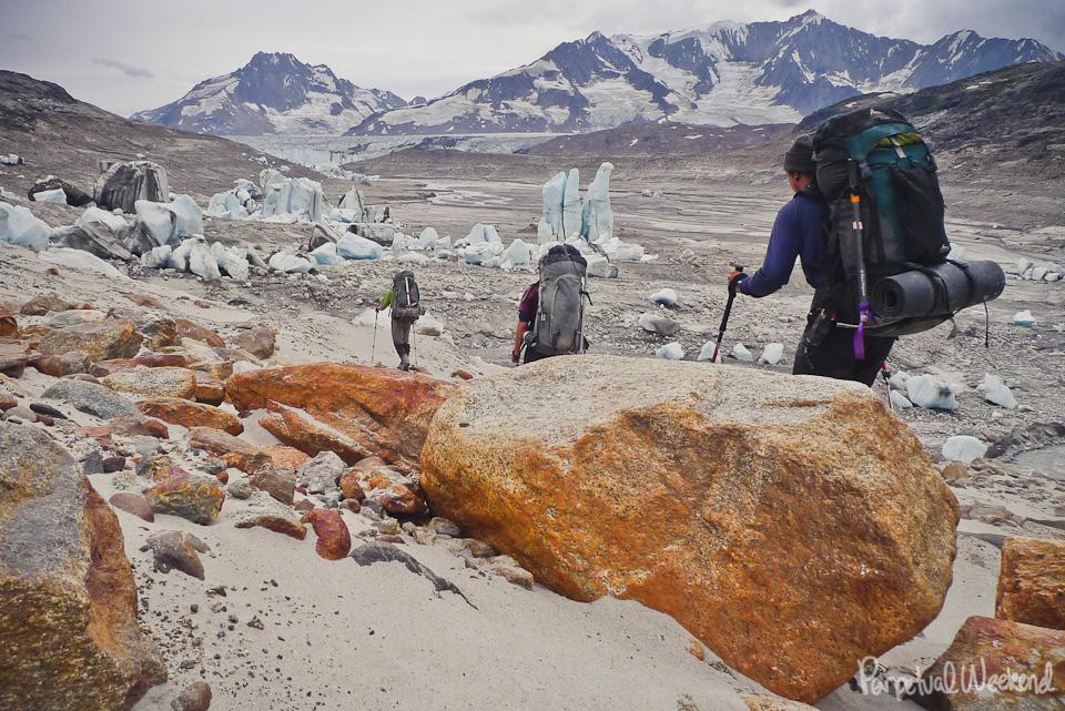 iceberg lake dam wrangell st elias, AK