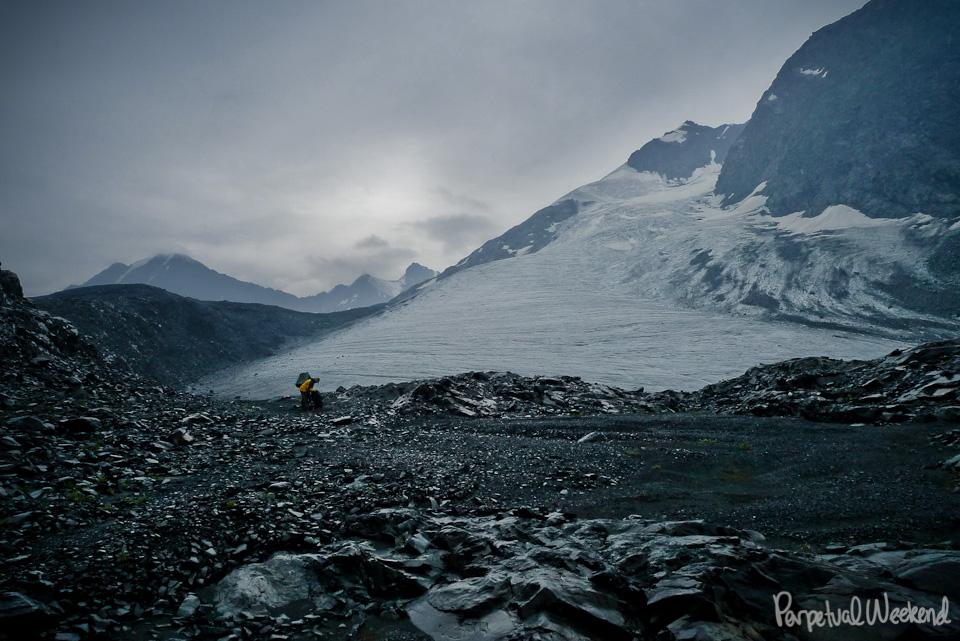 rain on glaciers in Wrangell St Elias National Park, AK