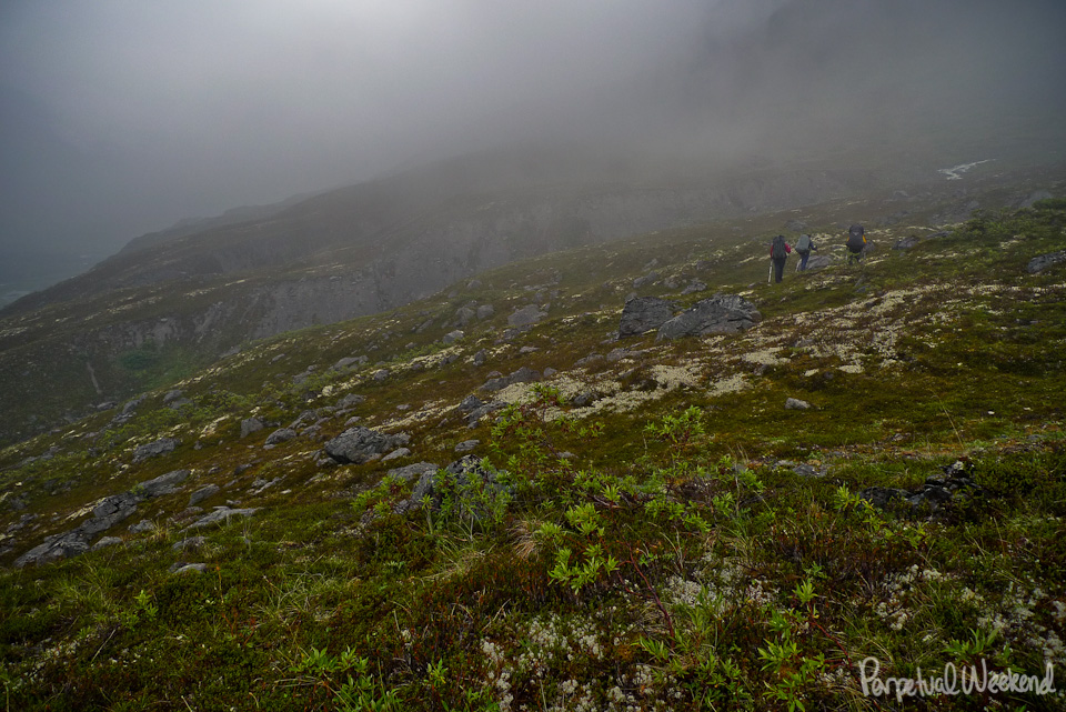 Rainy day backpacking in Alaska