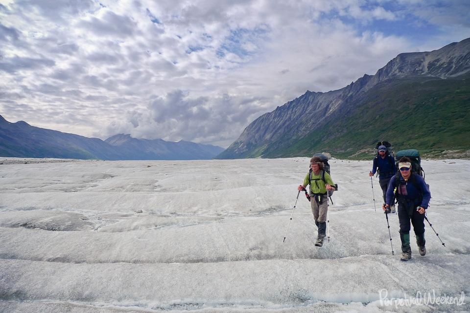 glacier hiking backpacking in alaska