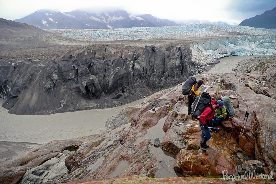 tana glacier, granite creek, tana river, rain storm