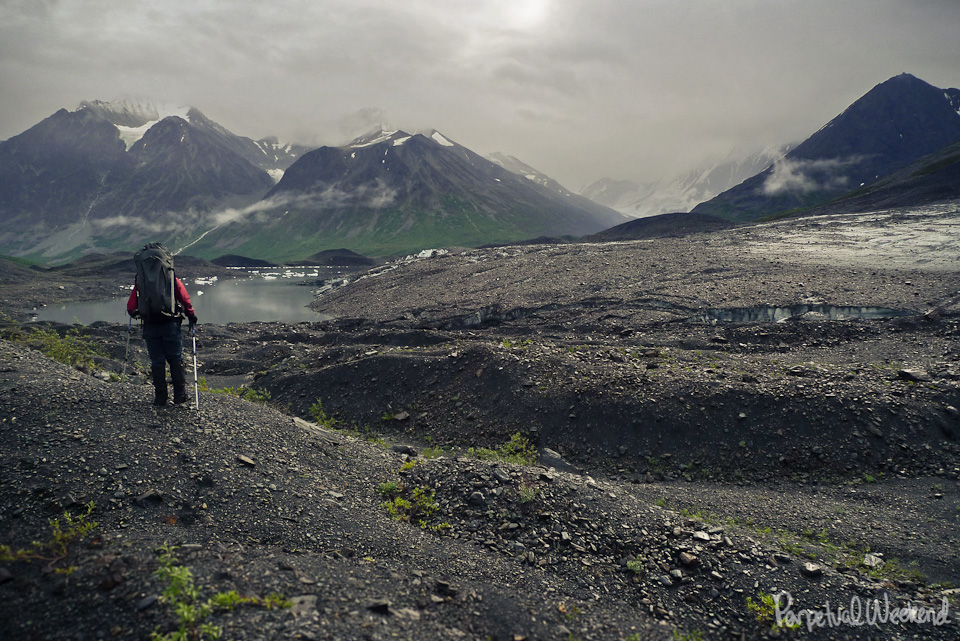 alaska backpacking alpine lake tundra talus