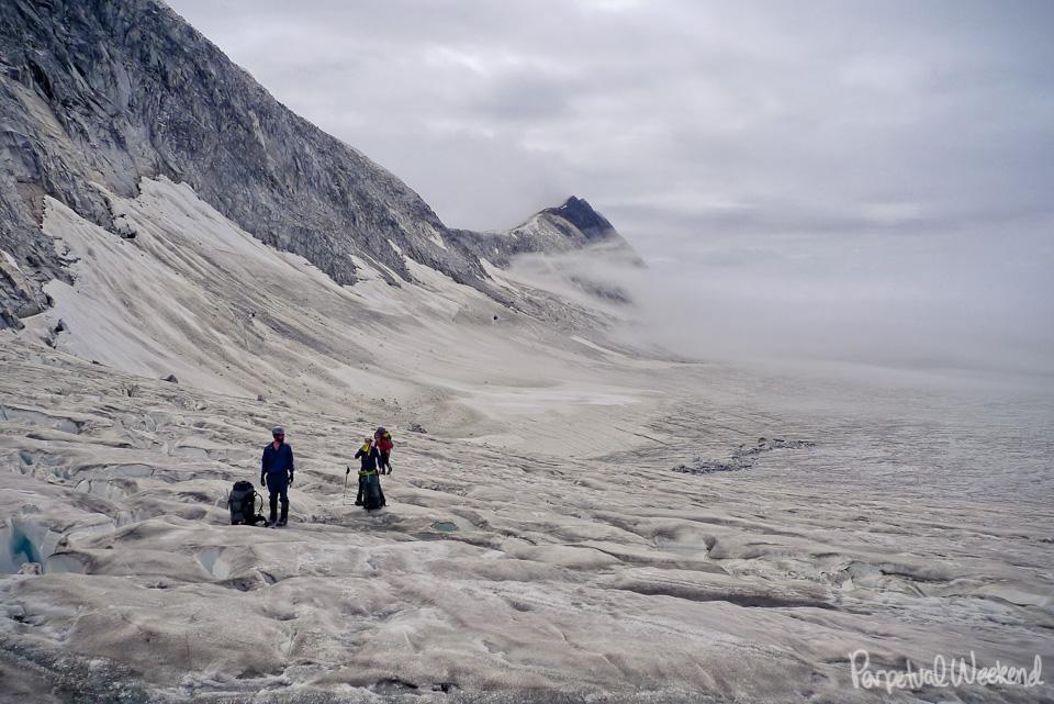 crevasse glacier hiking