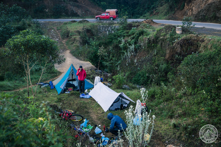 Roadside camping near Chichiquila