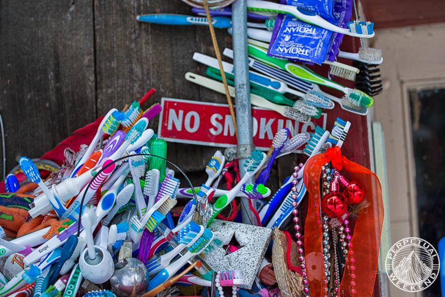 Found decorations at the Holden Village garbage shed.