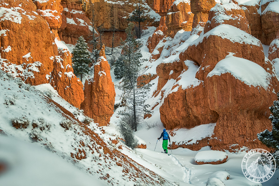 Kyle Miller desert splitboard touring on Red Mountain, UT